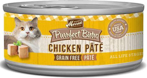 merrick purrfect bistro grain  chicken pate canned cat