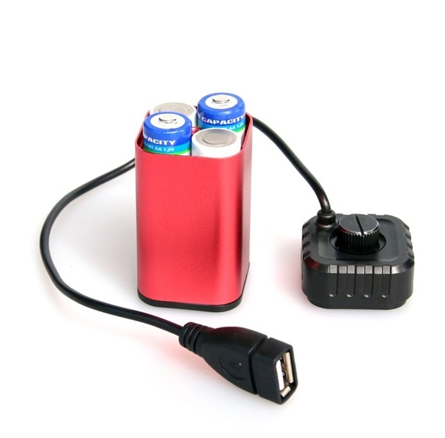 Waterproof Battery Pack Case House Cover For Bicycle Bike Lamp 8.4V 6x 18650