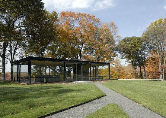 Phillip Johnson Glass House, photographer unknown, via FoxNews.com, used w/o permission