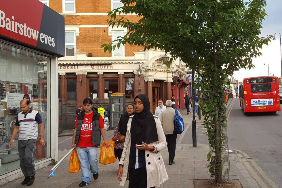 Una calle de East Ham, barrio en el Este de Londres.