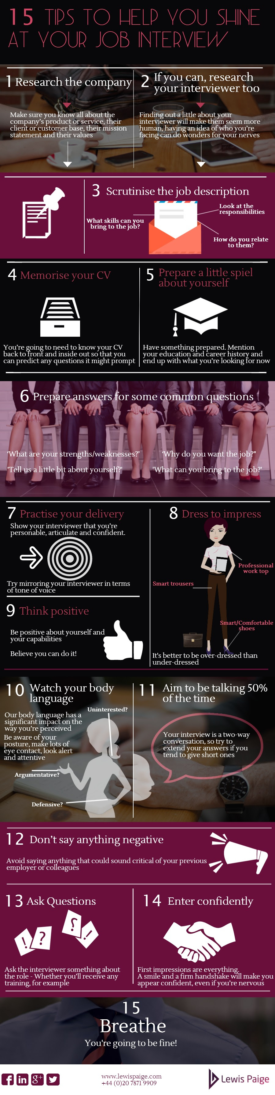 Infographic: 15 Tips to Help You Shine At Your Job Interview