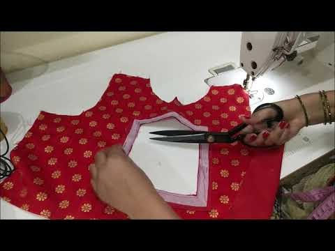 Stitching of A beautiful back neck design of blouse/blouse design