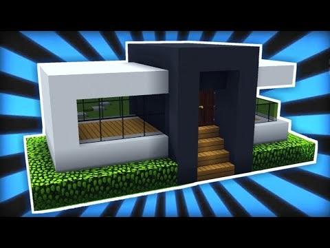 18+ konsep terpopuler inspirasi rumah minimalis di minecraft