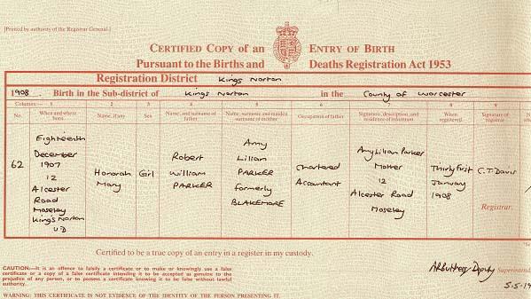 birth certificate birmingham register diary conway andrew