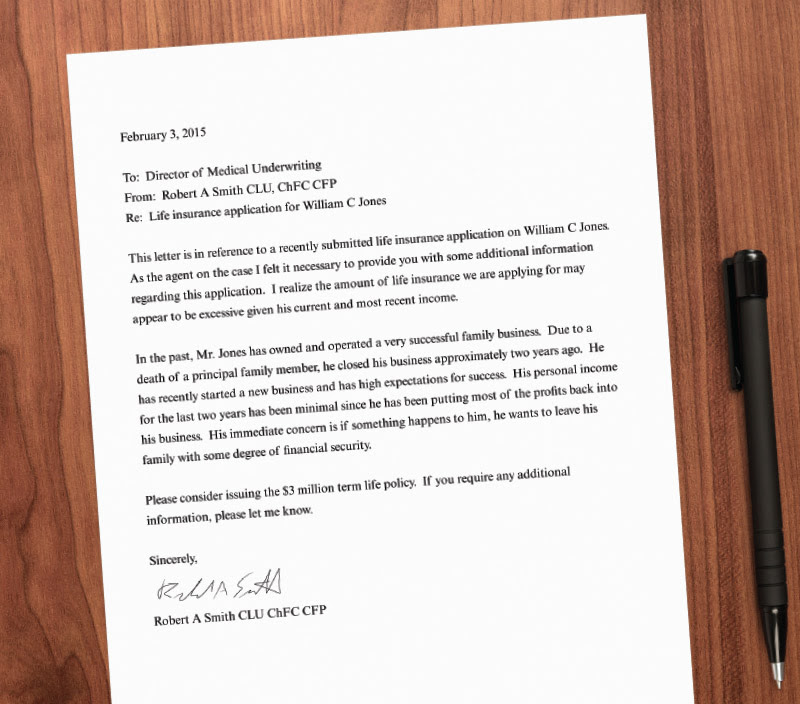 Consider A Cover Letter To Help Your Client'S Underwriting ...