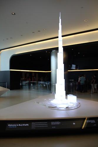 Miniature Burj Khalifa at the entrance