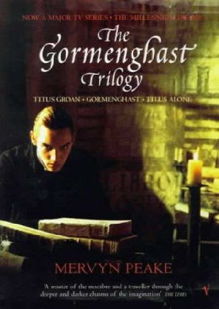 book cover of   The Gormenghast Trilogy