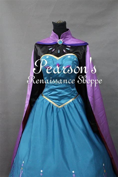 Frozen Elsa Coronation Embroidery Dress Set