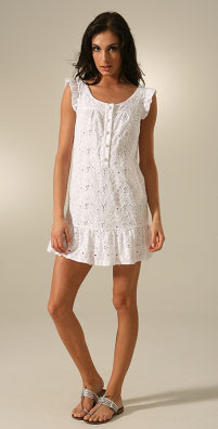 Juicy Couture Eyelet Shirt Dress