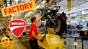 DUCATI FACTORY: 1ST SCRAMBLER PRODUCTION EVER! [CAFE-RACER]