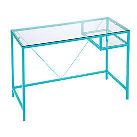 Aqua Glass Desk