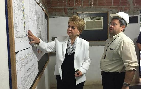 Construtora garante a Wilma conclusão de escola antes do início do próximo ano letivo