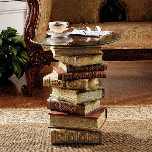 stacked books & glass top. #reading #books