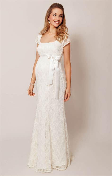 Eva Lace Maternity Wedding Gown (Cream)   Maternity