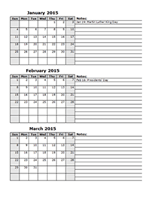 2015 Calendar Templates - Download 2015 monthly & yearly templates ...