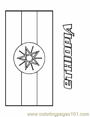 Download Ethiopia Coloring Page - Free Flags Coloring Pages : ColoringPages101.com