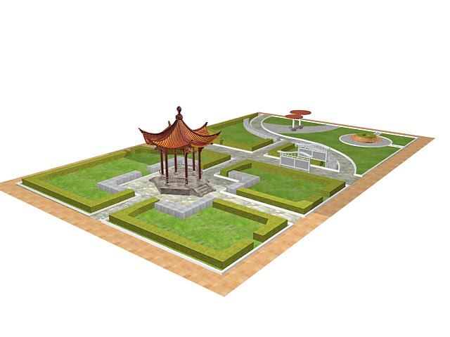 Formal Chinese garden design 3d model 3ds max files free download  modeling 33048 on CadNav