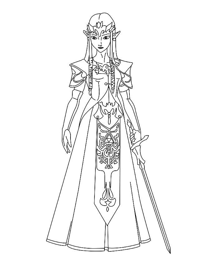 Coloriage Zelda Az Coloriage