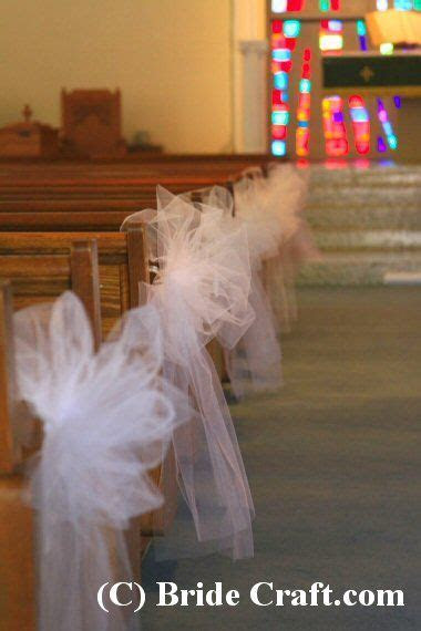 Tulle Bows for the Aisle Chairs   visit the website for