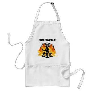 Fire Dept Flames apron