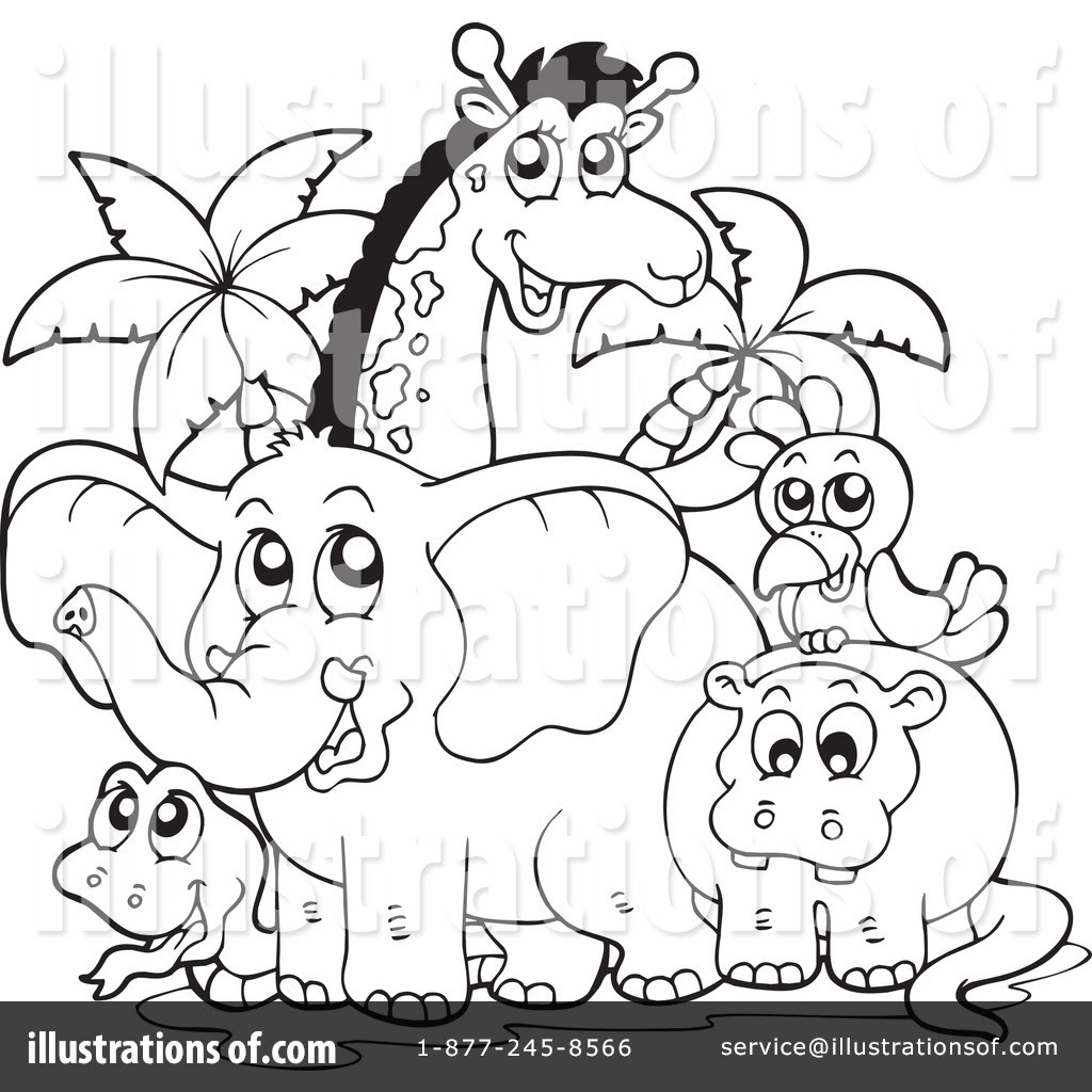 Zoo Clipart Black And White Intended For Your Inspiration Banyumasonline