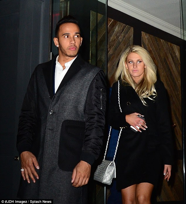 Lewis Hamilton enjoys Valentine's night out with mystery ...