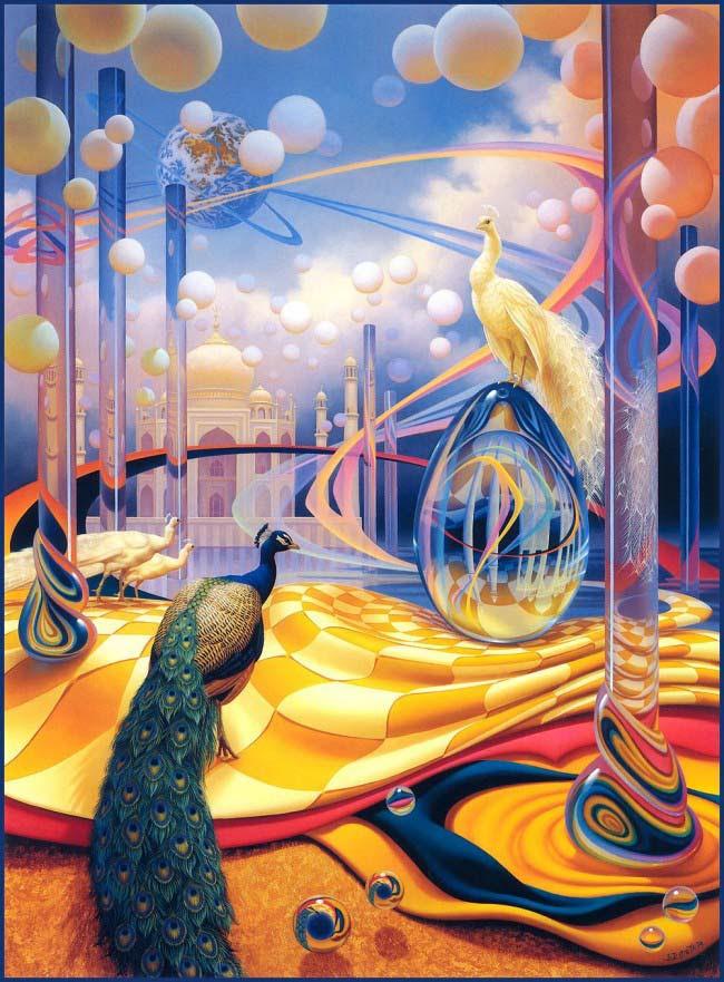 Pintura Pavos reales de Ilene Meyer