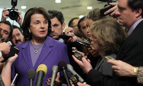 Dianne Feinstein on Capitol Hill, after Benghazi hearing, 16 November 2012