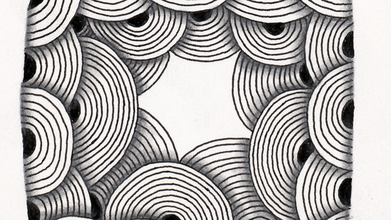 zentangle design tile 06 rick 0917