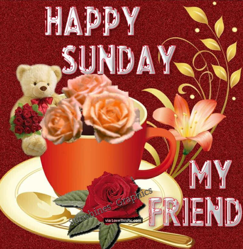 Happy Sunday My Friend Pictures Photos And Images For Facebook