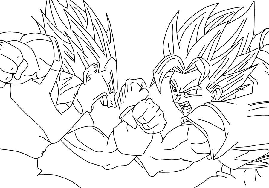 Dibujos Para Colorear Goku Az Dibujos Para Colorear