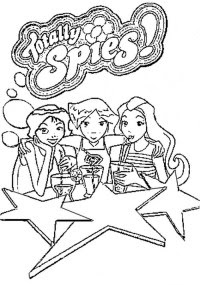 Coloriage A Imprimer Totally Spies.Coloriage A Imprimer Totally Spies Coloriages A Imprimer