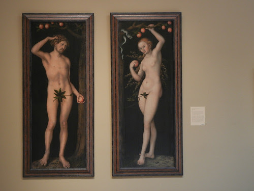 DSCN7681 _ Adam, c. 1530 & Eve, c. 1530, Lucas Cranach the Elder (1472-1553), Norton Simon Museum, July 2013