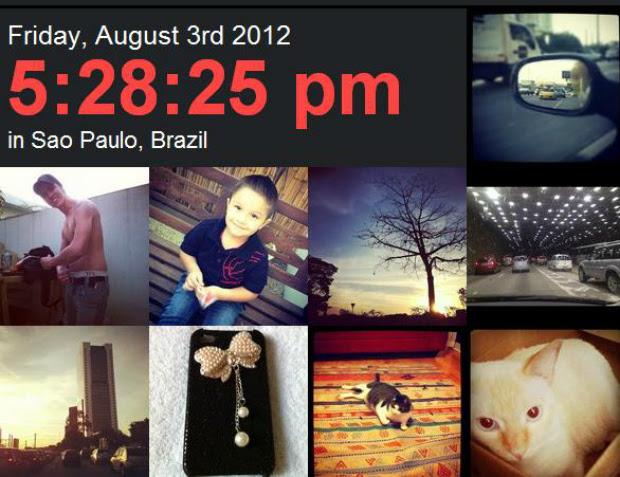 Imagens da cidade de São Paulo aparecem em tempo real no site (Foto: Reprodução)