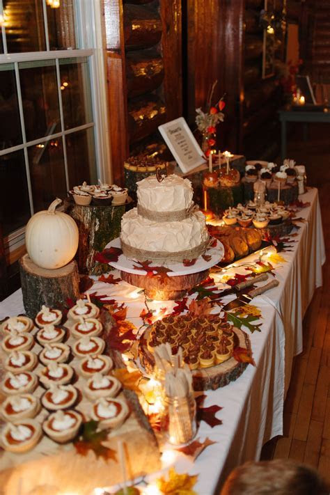 Fall wedding dessert table.   Our Fall Wedding ideas