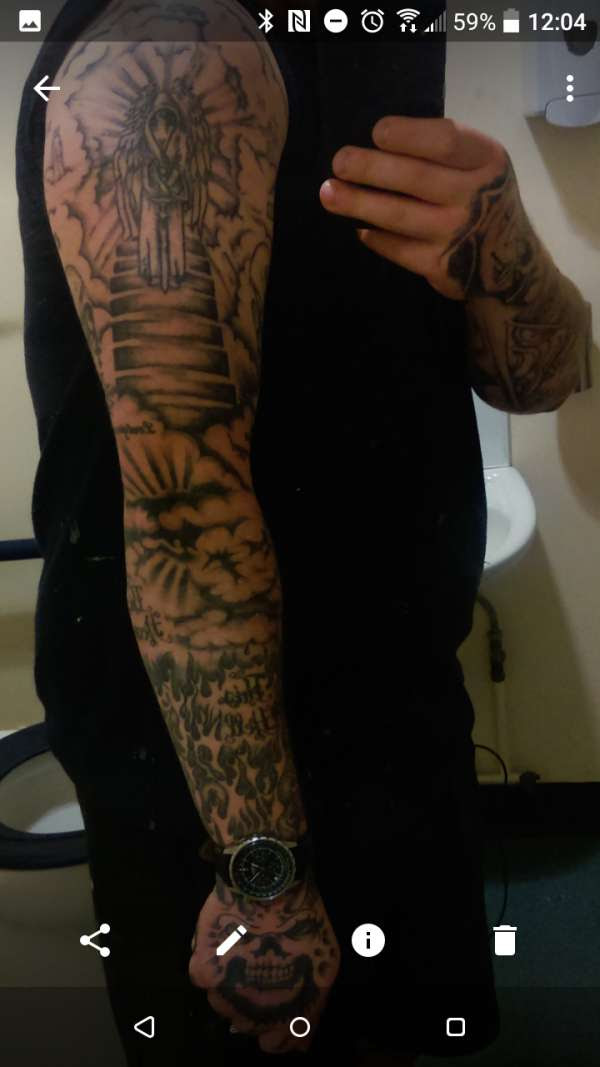 Heaven Hell Sleeve Tattoo