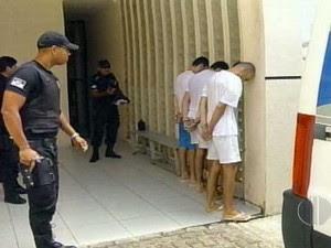 Oito acusados compareceram ao Fórum de Ceará-Mirim (Foto: Reprodução/Inter TV Cabugi)