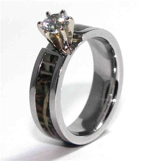 Camo Wedding Ring Sets For Her   Wedding and Bridal