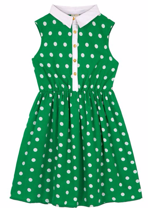 Yumi Girls Girls Polka Dot Collar Dress at House of Fraser