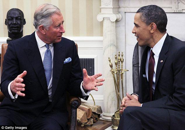 Nenhuma fotografia: Barack Obama reúne-se com o Príncipe Charles hoje no Salão Oval após uma entrevista onde confirmou nenhuma foto do corpo de Bin Laden seria liberado