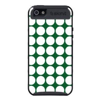 White Polka Dots on Green Cover For iPhone 5