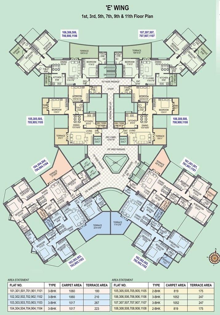 Paranjape Schemes' Gloria Grace Bavdhan Pune - E-Wing - Odd Floors
