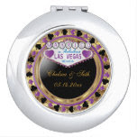 Married in Las Vegas | Purple & Gold Metallic Makeup Mirror
