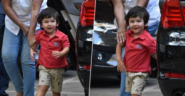 Taimur Ali Khan Gets Excited Looking at the Shutterbugs Capturing His Adorable Pics
