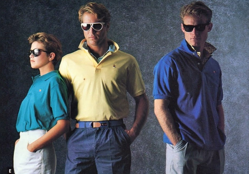 before apple was cool here's the ridiculous 80's clothing
