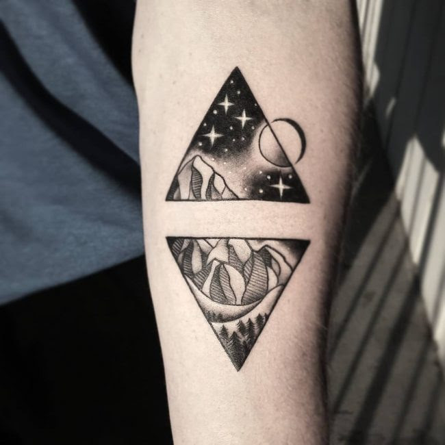 65 Best Triangle Tattoo Designs Meanings Sacred Geometry 2018