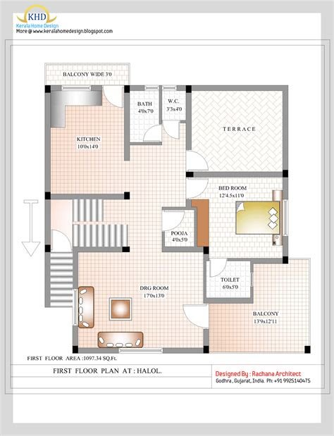 duplex house plan  elevation  sq ft indian
