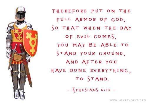 Inspirational illustration of Ephesians 6:13