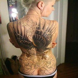Eagle Wings Tattoos On Back