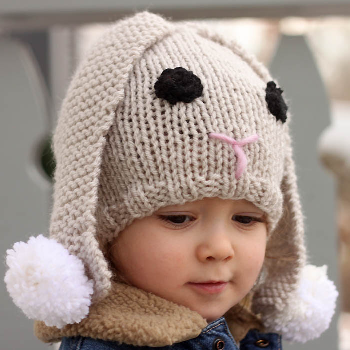 Free Knitting Pattern for Baby Bunny Hat